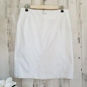 Crisp Lined White Skirt